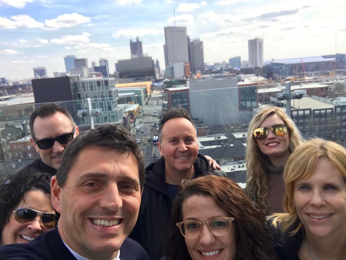 Rooftop Group Selfie
