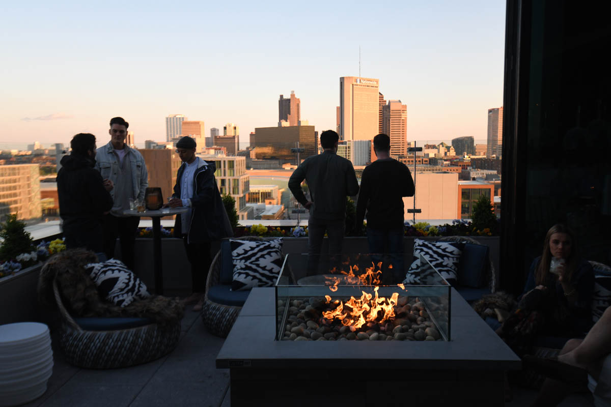 Lincoln Social Guests outdoor firepit and view