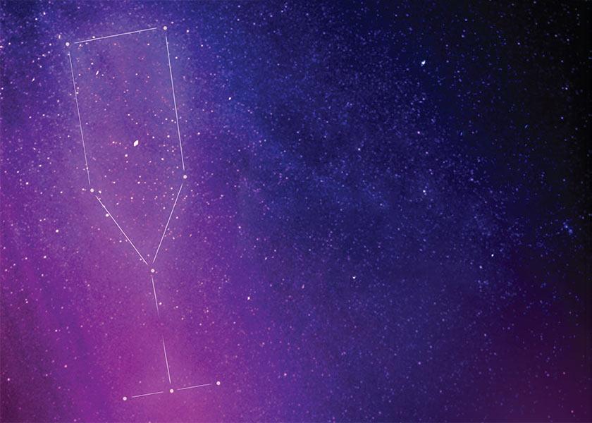 starfield with drink constellation